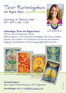 16-02 Tarot-Kurs RR bei Anita Lussi