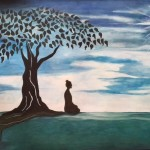 This picture is painted by me after an artwork I like very much. I found it (as well as many copies) on several webpages. The artist was never mentioned. Where possible I connected the responsible person of the website. However, until now I could not find the original artist. If you are that person, please contact me.